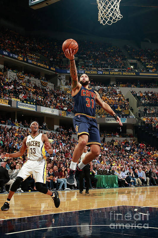 Playoffs Art Print featuring the photograph Deron Williams by Jeff Haynes