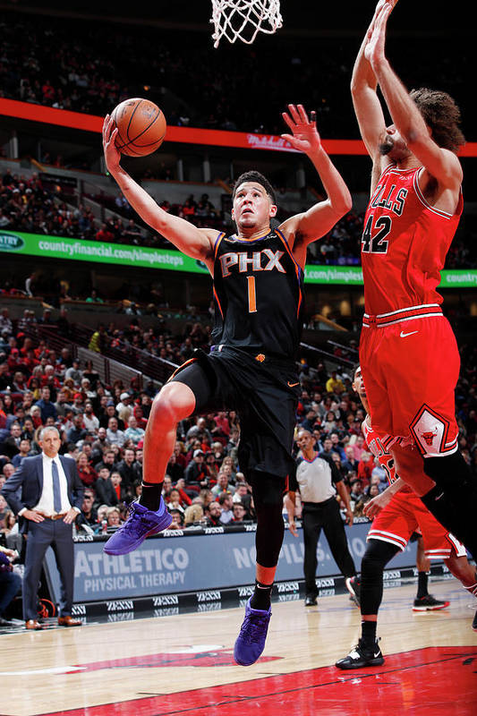 Nba Pro Basketball Art Print featuring the photograph Devin Booker by Jeff Haynes