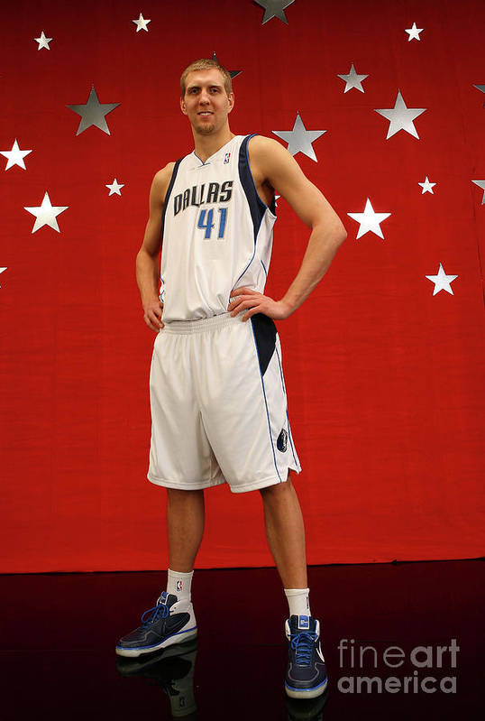 Nba Pro Basketball Art Print featuring the photograph Dirk Nowitzki by Jesse D. Garrabrant