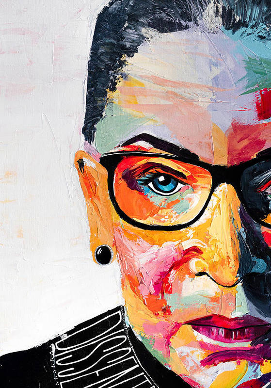 Portrait Art Print featuring the painting Dissent - Cropped by LA Smith