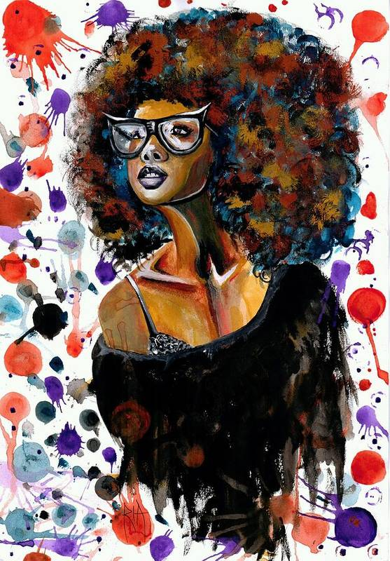 Sexy Art Print featuring the painting Dope Chic by Artist RiA