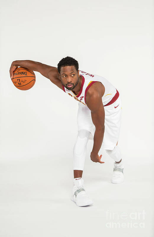 Media Day Art Print featuring the photograph Dwyane Wade by Michael J. Lebrecht Ii