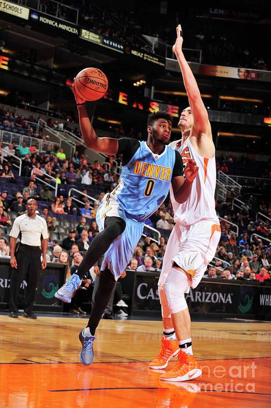 Nba Pro Basketball Art Print featuring the photograph Emmanuel Mudiay by Barry Gossage