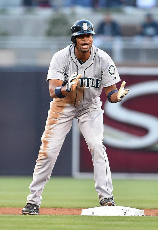 American League Baseball Art Print featuring the photograph Endy Chavez by Denis Poroy