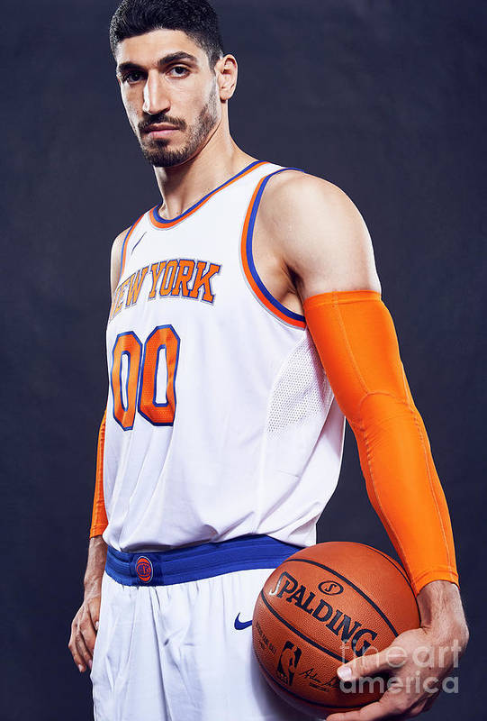 Media Day Art Print featuring the photograph Enes Kanter by Jennifer Pottheiser