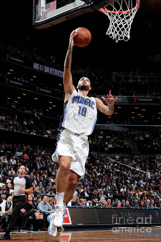 Nba Pro Basketball Art Print featuring the photograph Evan Fournier by Nathaniel S. Butler