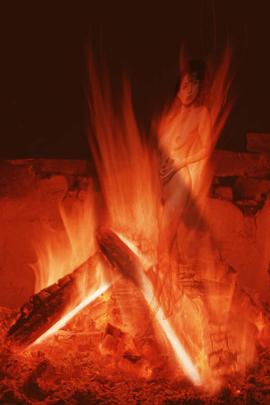 Fire Art Print featuring the photograph Flame Nymph by Richard Henne