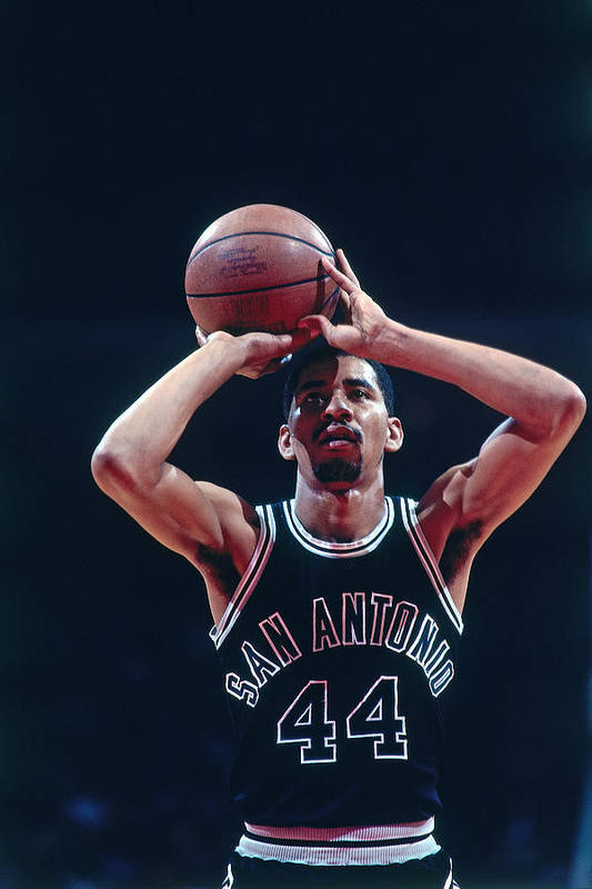 1980-1989 Art Print featuring the photograph George Gervin by Bill Baptist