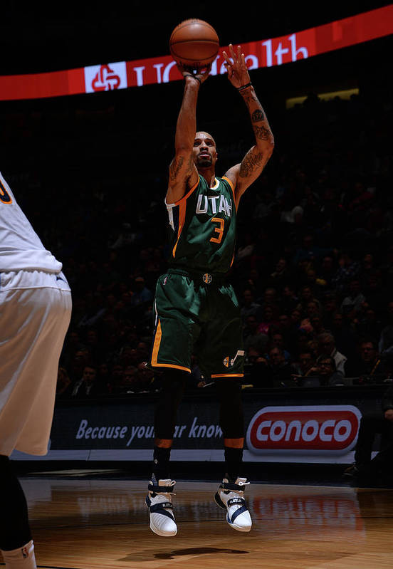 Nba Pro Basketball Art Print featuring the photograph George Hill by Bart Young