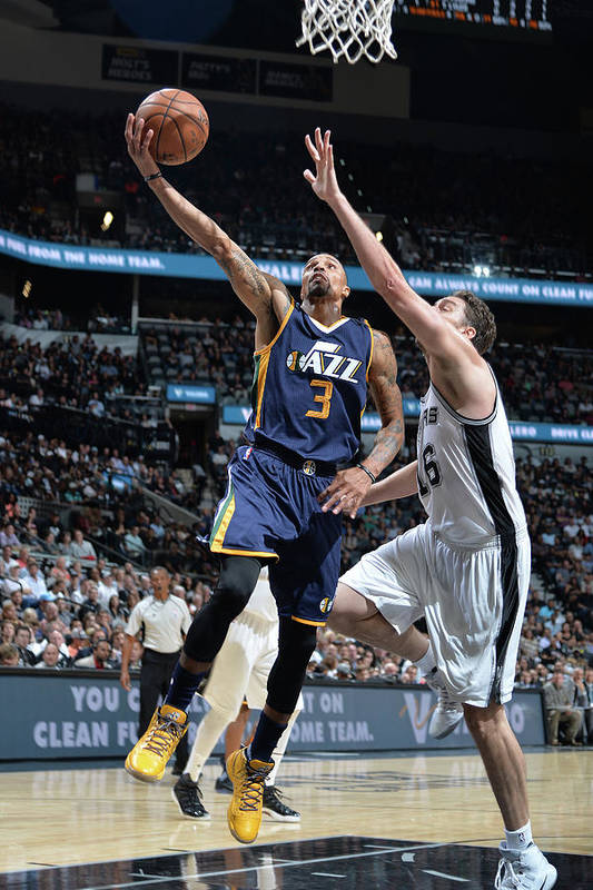 Nba Pro Basketball Art Print featuring the photograph George Hill by Mark Sobhani