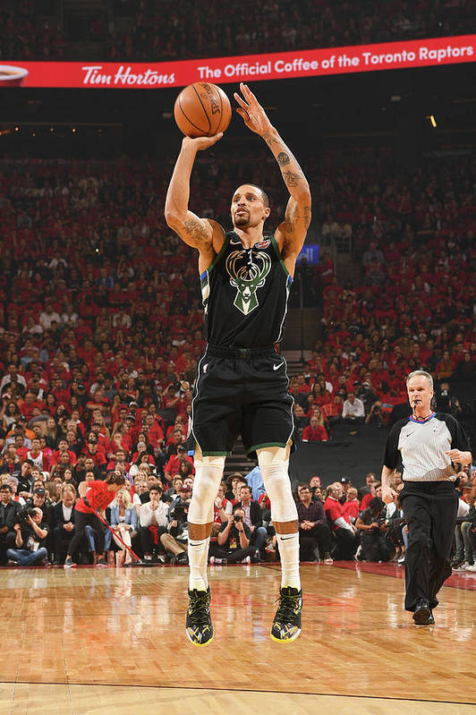 Nba Pro Basketball Art Print featuring the photograph George Hill by Ron Turenne