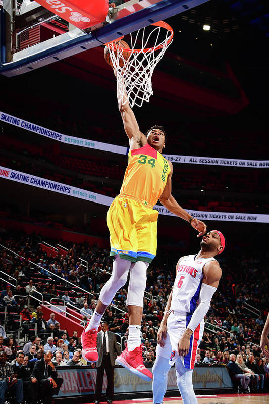 Nba Pro Basketball Art Print featuring the photograph Giannis Antetokounmpo by Chris Schwegler