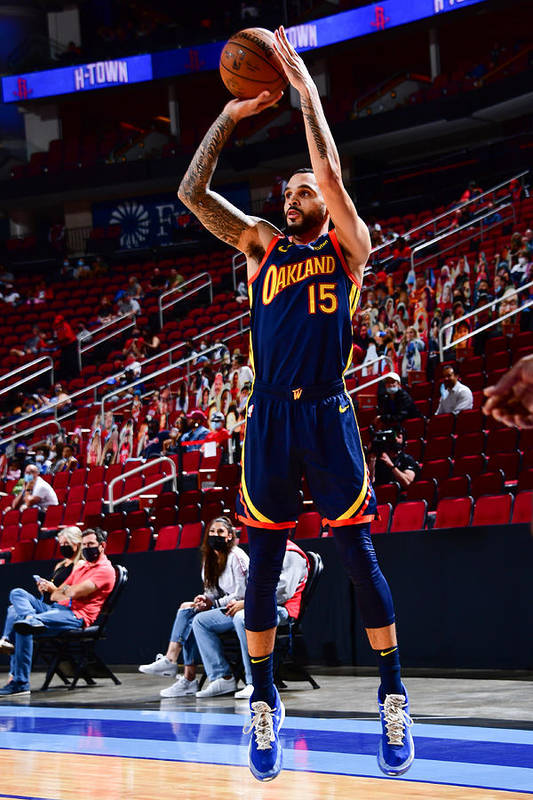 Mychal Mulder Art Print featuring the photograph Golden State Warriors v Houston Rockets by Cato Cataldo