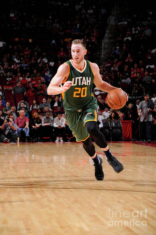 Nba Pro Basketball Art Print featuring the photograph Gordon Hayward by Bill Baptist