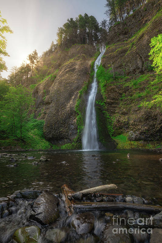 Horsetail Falls Art Print featuring the photograph Horsetail Falls by Michael Ver Sprill
