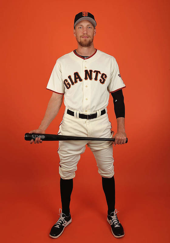 Media Day Art Print featuring the photograph Hunter Pence by Christian Petersen