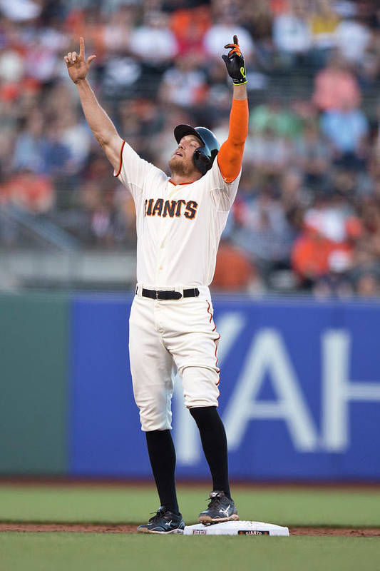 San Francisco Art Print featuring the photograph Hunter Pence by Jason O. Watson