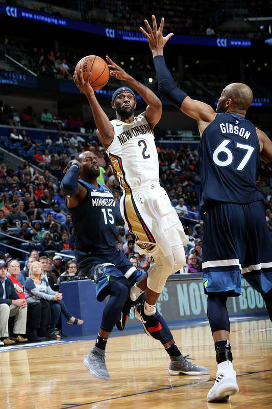 Smoothie King Center Art Print featuring the photograph Ian Clark by Layne Murdoch