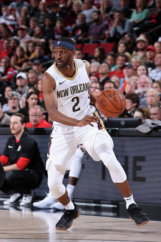 Nba Pro Basketball Art Print featuring the photograph Ian Clark by Sam Forencich