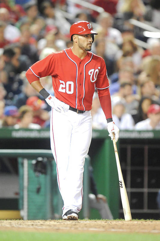 Looking Art Print featuring the photograph Ian Desmond by Mitchell Layton