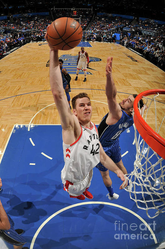Nba Pro Basketball Art Print featuring the photograph Jakob Poeltl by Fernando Medina