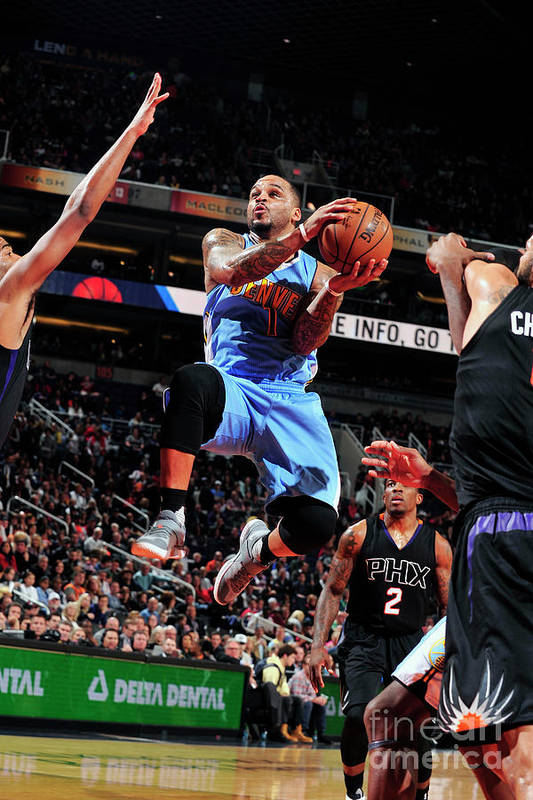 Nba Pro Basketball Art Print featuring the photograph Jameer Nelson by Barry Gossage