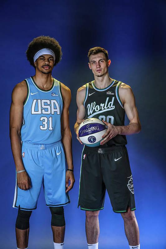 Nba Pro Basketball Art Print featuring the photograph Jarrett Allen by Michael J. Lebrecht Ii
