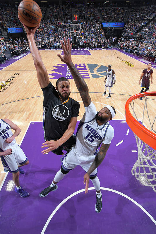 Nba Pro Basketball Art Print featuring the photograph Javale Mcgee and Demarcus Cousins by Rocky Widner