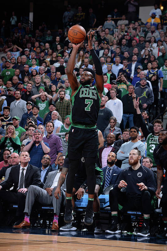Nba Pro Basketball Art Print featuring the photograph Jaylen Brown by Bart Young
