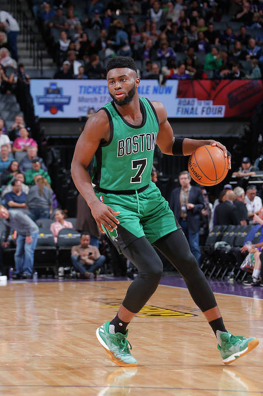 Nba Pro Basketball Art Print featuring the photograph Jaylen Brown by Rocky Widner