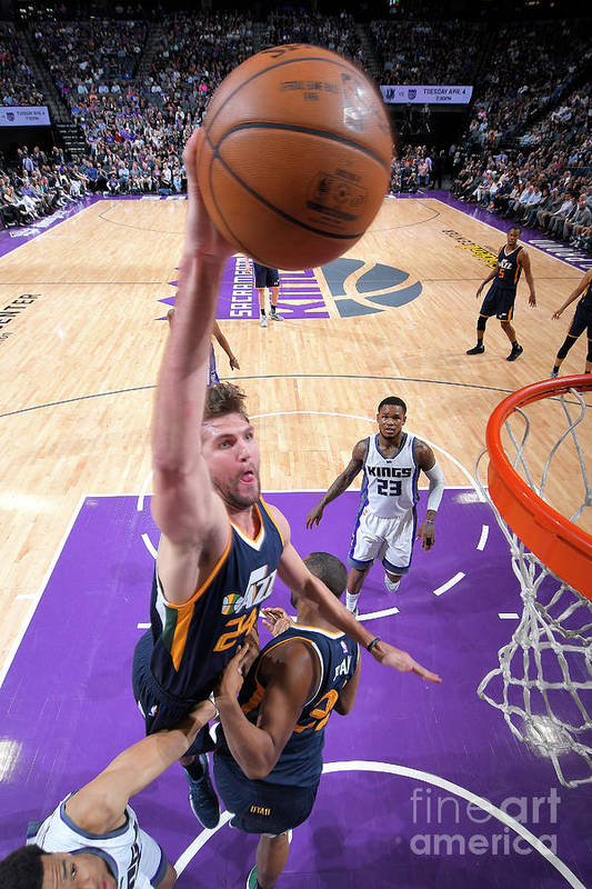 Nba Pro Basketball Art Print featuring the photograph Jeff Withey by Rocky Widner