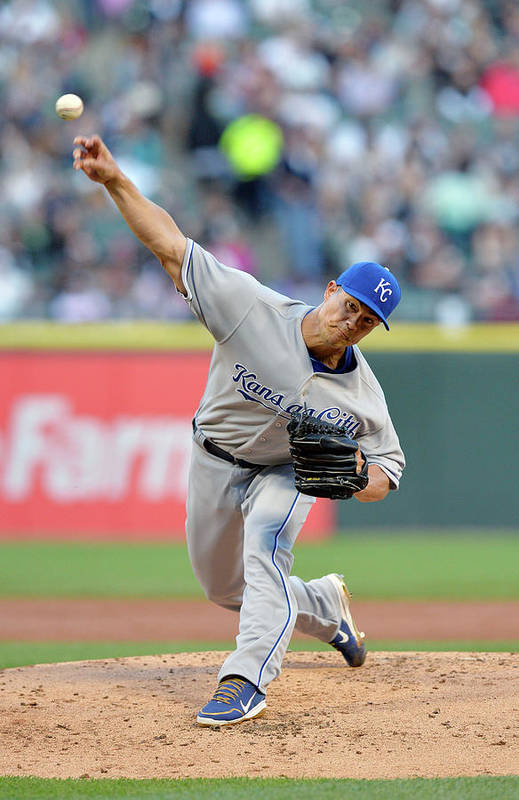 American League Baseball Art Print featuring the photograph Jeremy Guthrie by Brian Kersey
