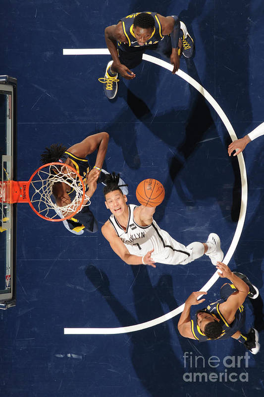 Nba Pro Basketball Art Print featuring the photograph Jeremy Lin by Ron Hoskins