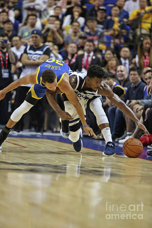 Event Art Print featuring the photograph Jimmy Butler and Stephen Curry by David Sherman