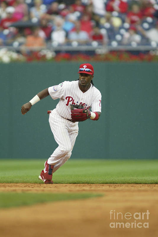 Sports Ball Art Print featuring the photograph Jimmy Rollins by Rob Leiter