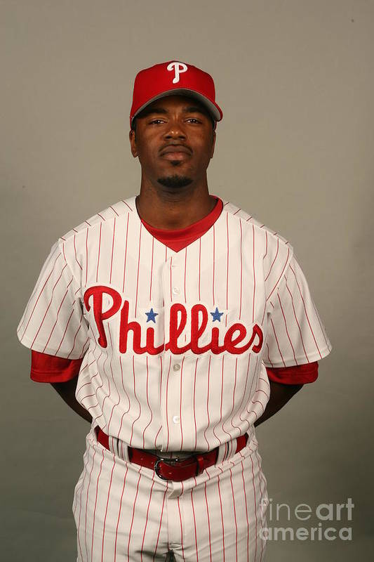 Media Day Art Print featuring the photograph Jimmy Rollins by Robbie Rogers