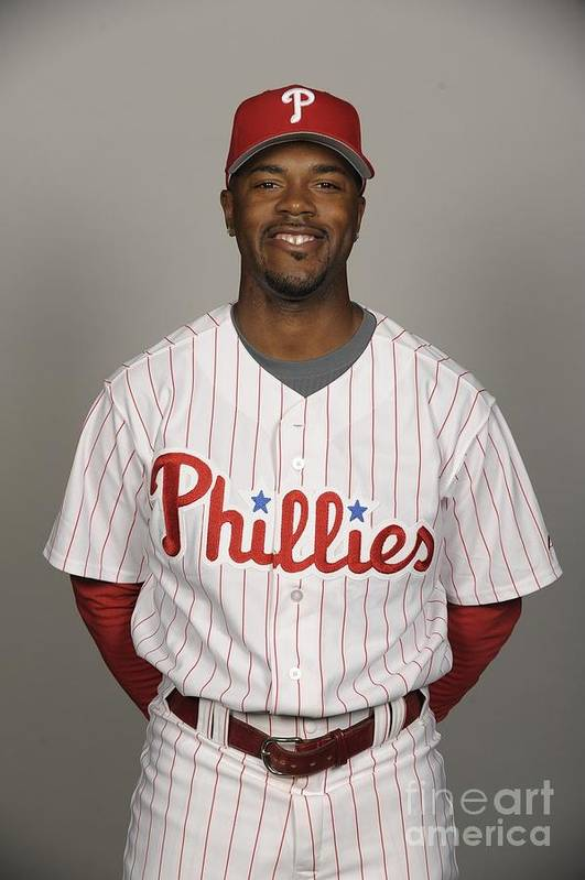 Media Day Art Print featuring the photograph Jimmy Rollins by Tony Firriolo