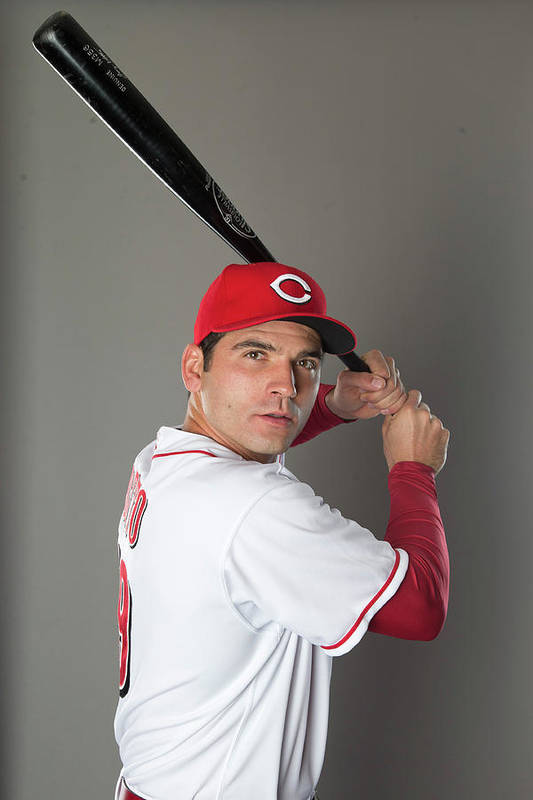 American League Baseball Art Print featuring the photograph Joey Votto by Mike Mcginnis