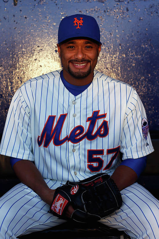Media Day Art Print featuring the photograph Johan Santana by Chris Trotman