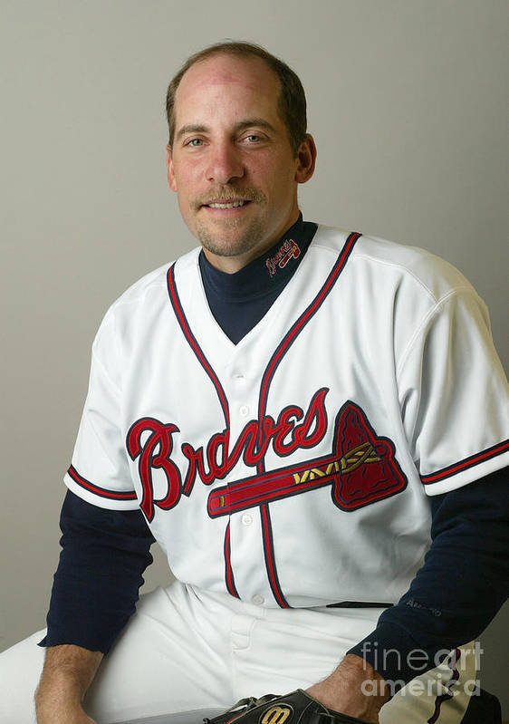 Media Day Art Print featuring the photograph John Smoltz by Rick Stewart