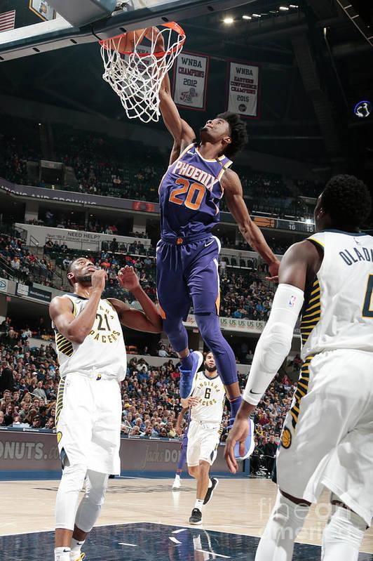Nba Pro Basketball Art Print featuring the photograph Josh Jackson by Ron Hoskins