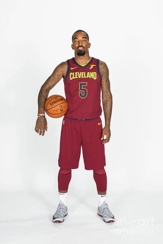 Media Day Art Print featuring the photograph J.r. Smith by Michael J. Lebrecht Ii