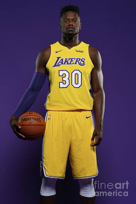Media Day Art Print featuring the photograph Julius Randle by Aaron Poole