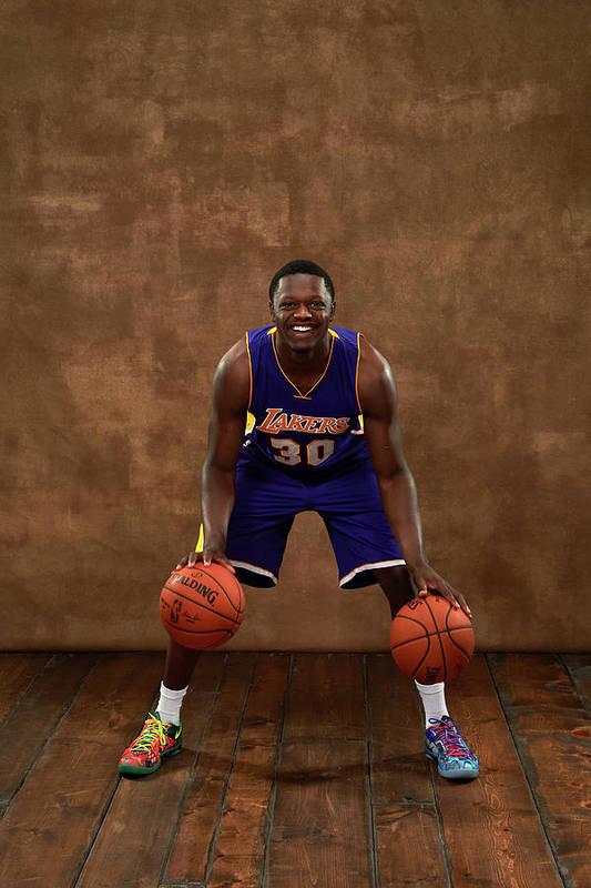 Nba Pro Basketball Art Print featuring the photograph Julius Randle by Jennifer Pottheiser