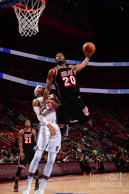 Justise Winslow Art Print featuring the photograph Justise Winslow by Chris Schwegler