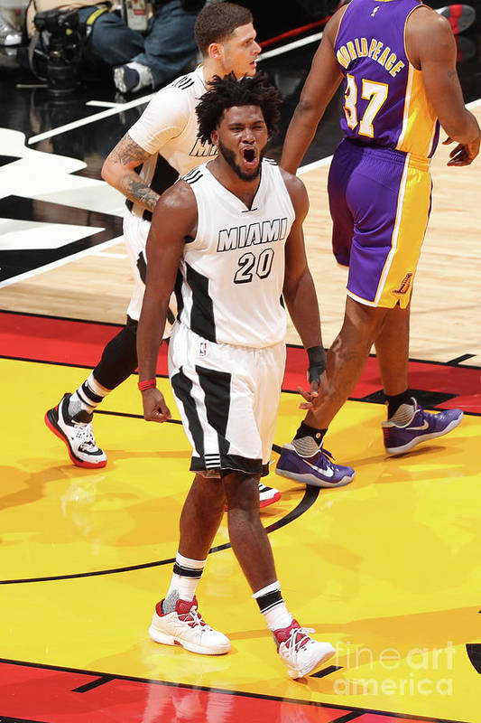 Justise Winslow Art Print featuring the photograph Justise Winslow by Joe Murphy