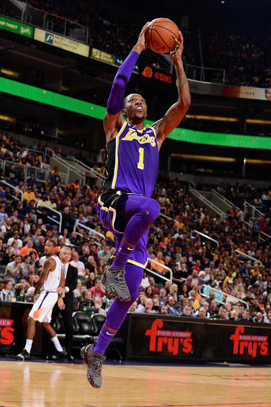Nba Pro Basketball Art Print featuring the photograph Kentavious Caldwell-pope by Barry Gossage