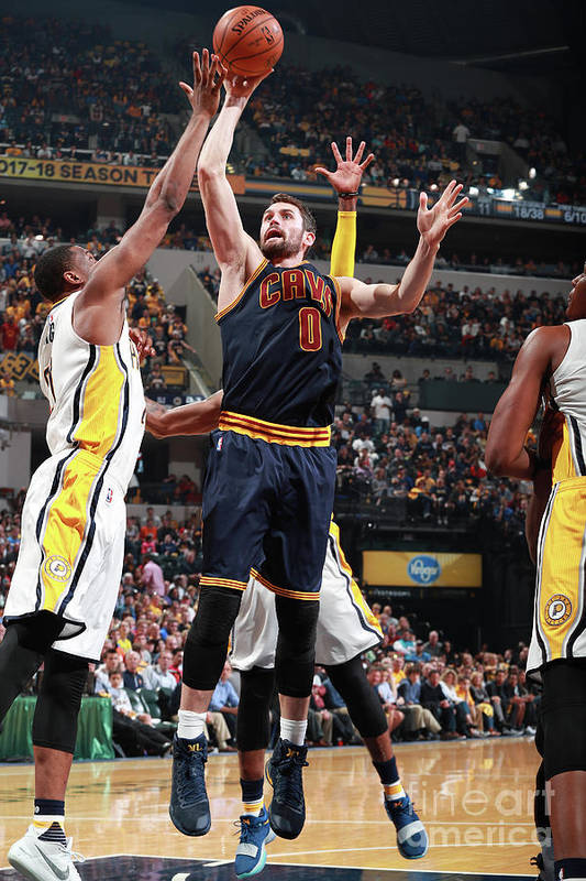 Playoffs Art Print featuring the photograph Kevin Love by Jeff Haynes