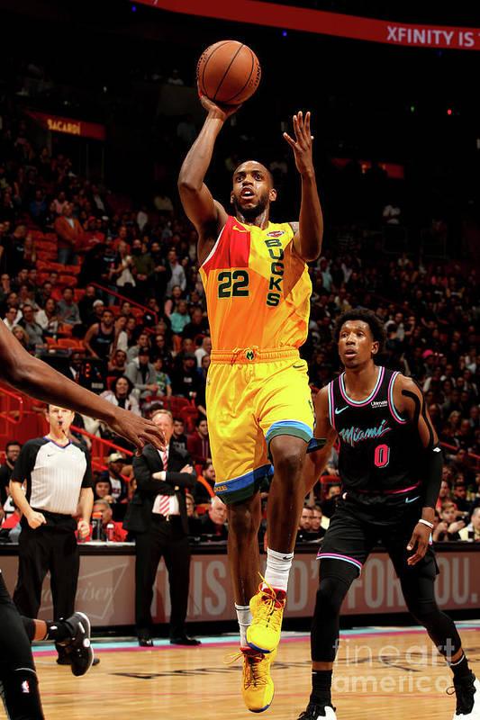 Nba Pro Basketball Art Print featuring the photograph Khris Middleton by Oscar Baldizon
