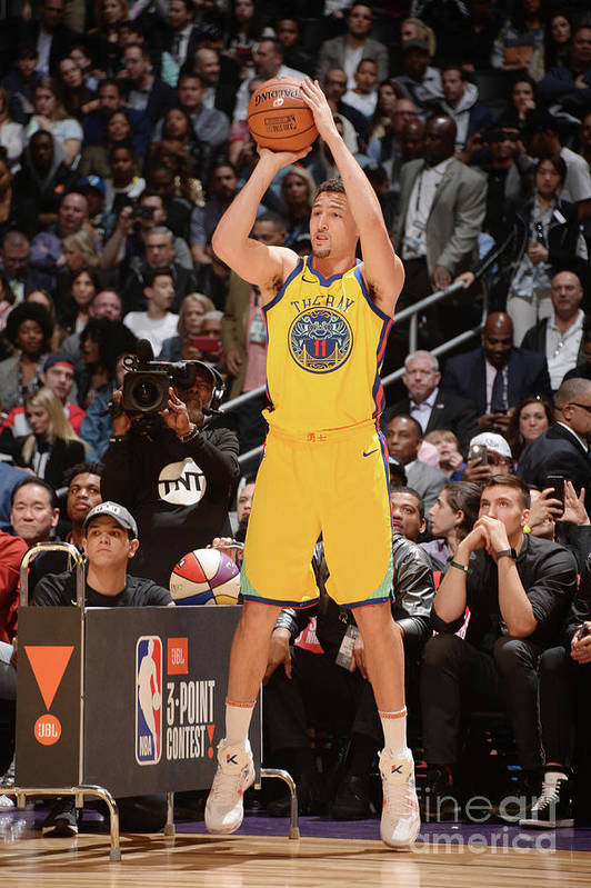 Event Art Print featuring the photograph Klay Thompson by Andrew D. Bernstein